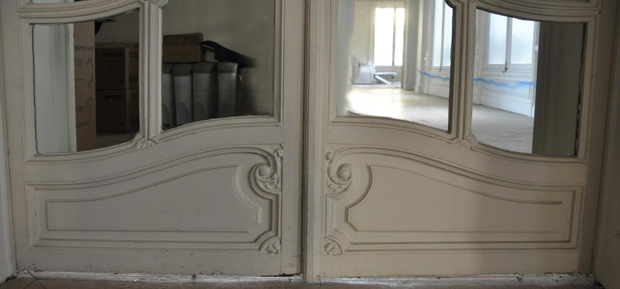 Pair of Napoleon III style double mirror doors-3