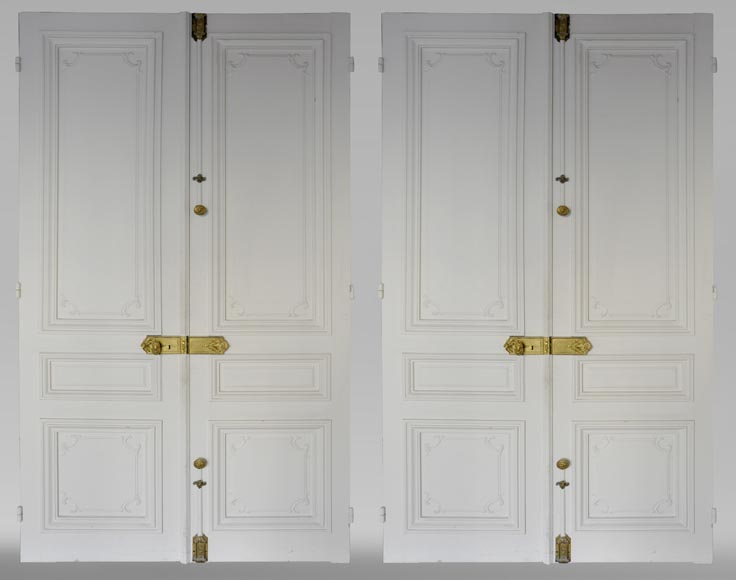 Two antique double doors in the Regency style-0