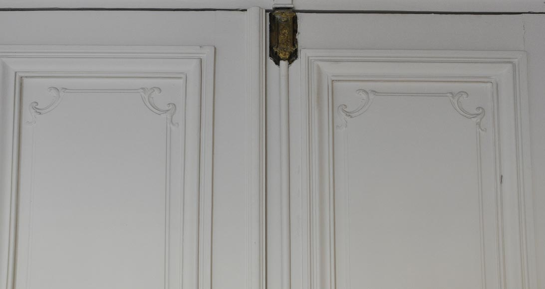 Two antique double doors in the Regency style-1