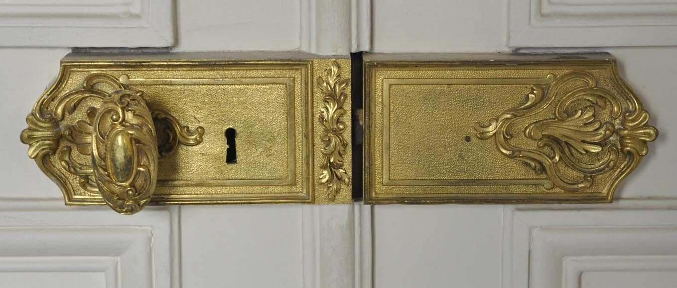 Two antique double doors in the Regency style-3