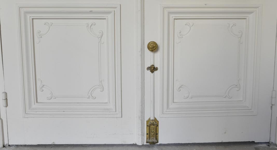 Two antique double doors in the Regency style-4