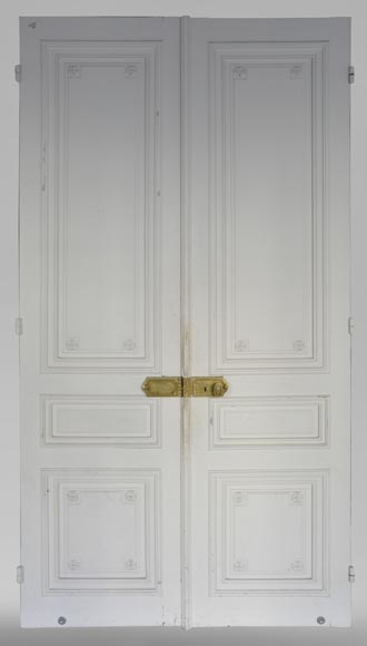 Two antique double doors in the Regency style-5
