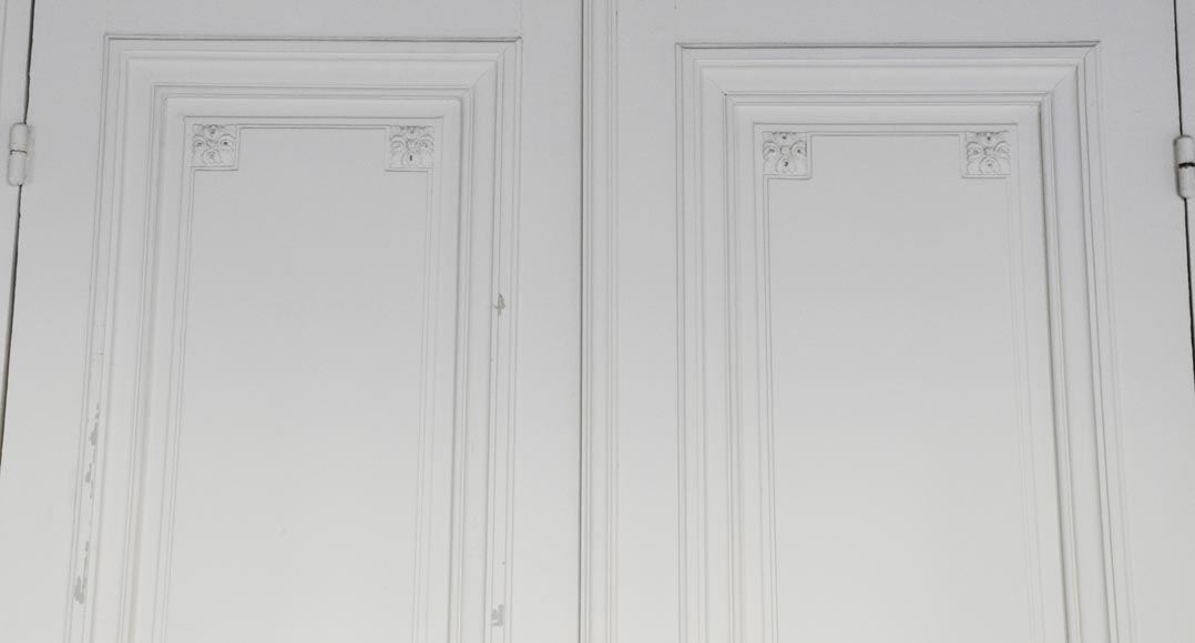 Two antique double doors in the Regency style-6