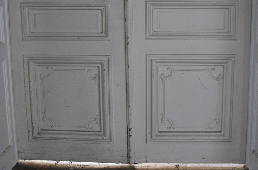 Two antique double doors in the Regency style-8