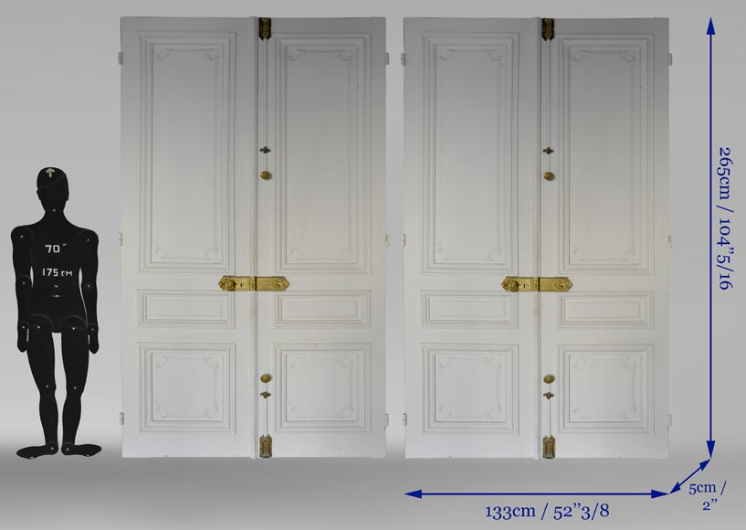 Two antique double doors in the Regency style-9