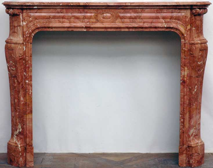 Fireplace mantel in red marble from Alicante - Reference 1160
