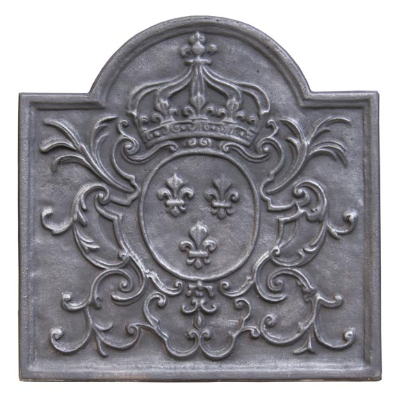 Little cast iron fireback with the French coat of arms-0