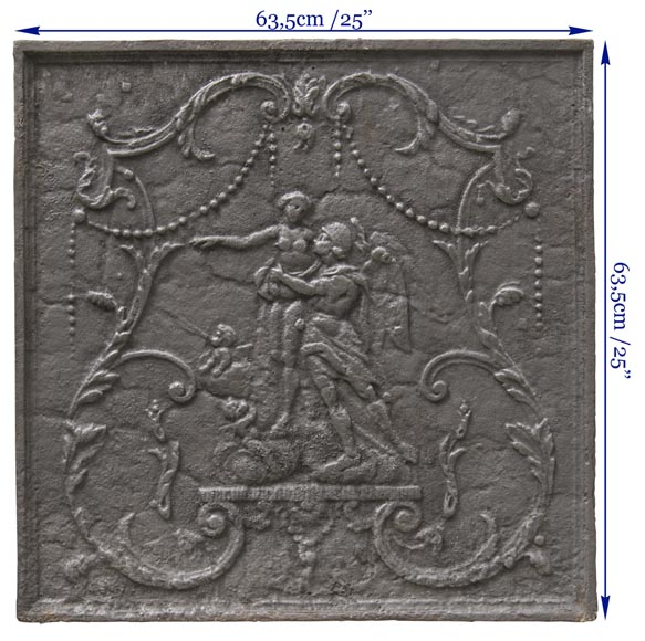 Fireback with mythological decoration-6