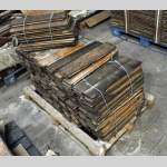 Set of straight oak parquet flooring