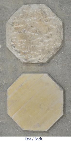 Floor composed of a beautiful set of octagonal cabochons from the 19th century-2