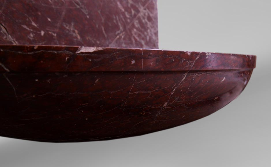 Antique 19th-century sink in Red Griotte marble-5