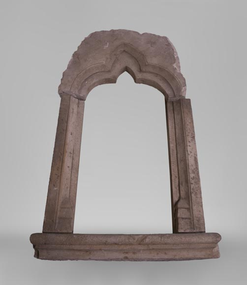 Stone window frame from the Gothic period-1
