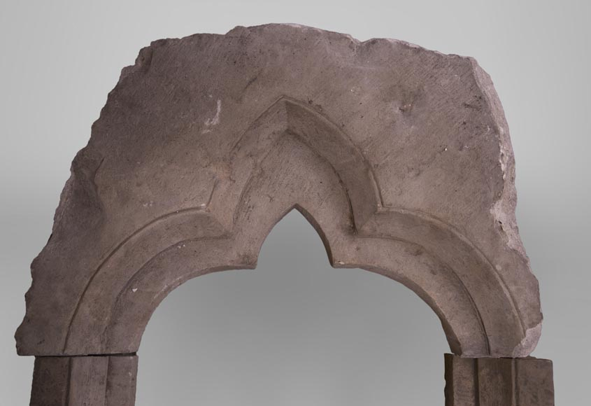 Stone window frame from the Gothic period-2