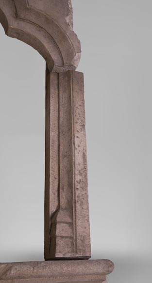 Stone window frame from the Gothic period-4