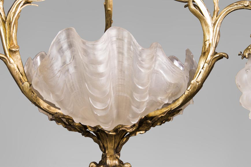 Antique chandelier in the Regency style with shells-5