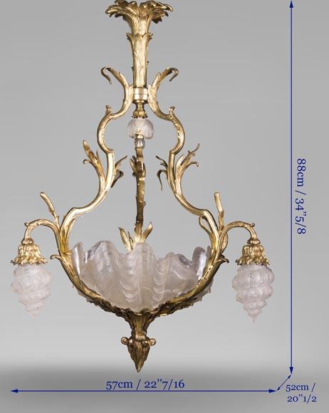 Antique chandelier in the Regency style with shells-7
