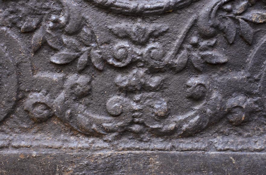 An antique fireback representing the Sacrifice of Isaac-4