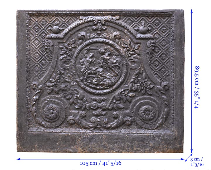 An antique fireback representing the Sacrifice of Isaac-7