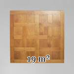 Lot of 19 m2 of pegged Chantilly oak parquet flooring from the Hôtel de Crillon