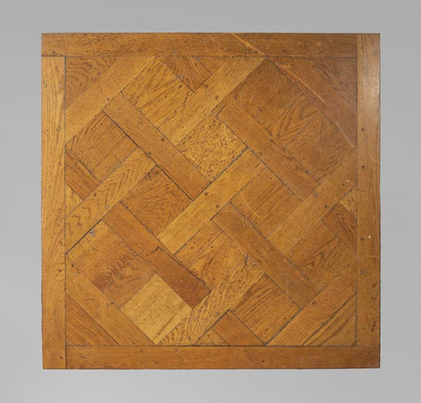 Set of Versailles pegged oak parquet flooring from the 20th century-0