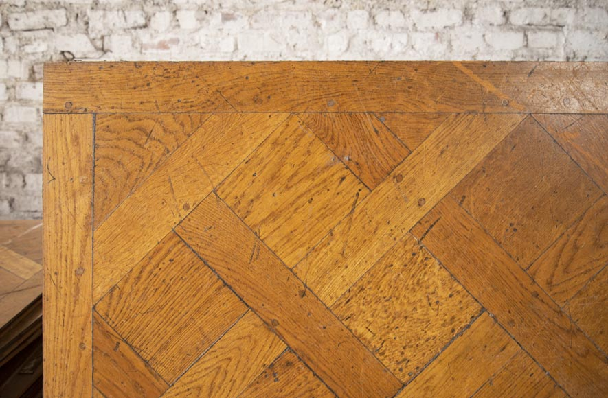 Set of Versailles pegged oak parquet flooring from the 20th century-1