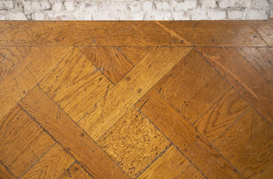 Set of Versailles pegged oak parquet flooring from the 20th century-2