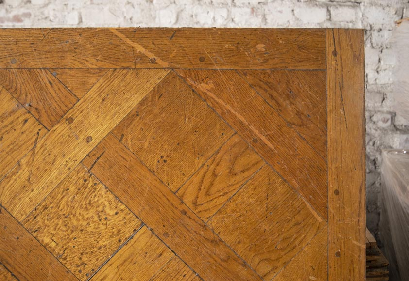 Set of Versailles pegged oak parquet flooring from the 20th century-3