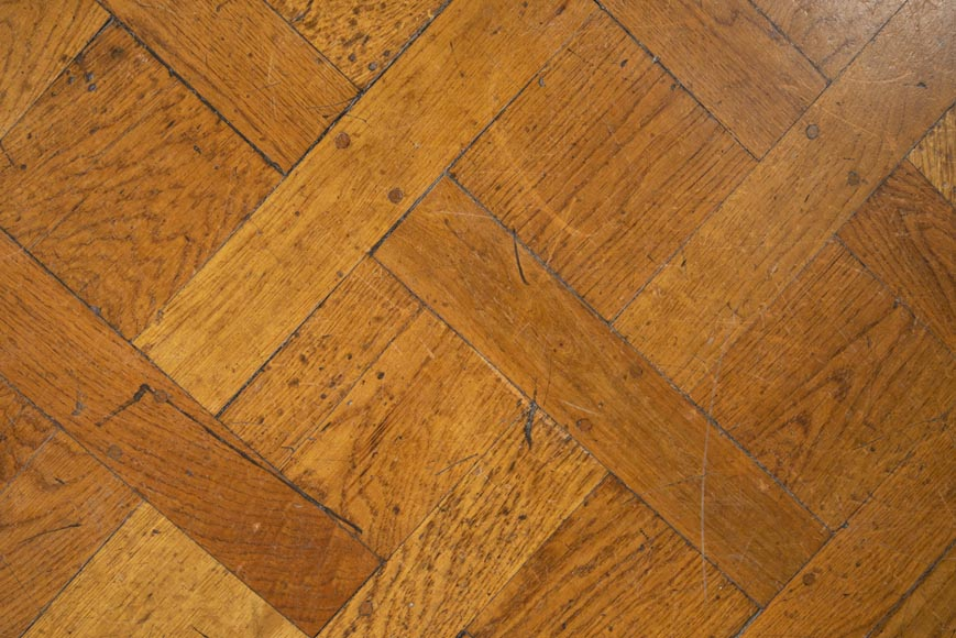 Set of Versailles pegged oak parquet flooring from the 20th century-4