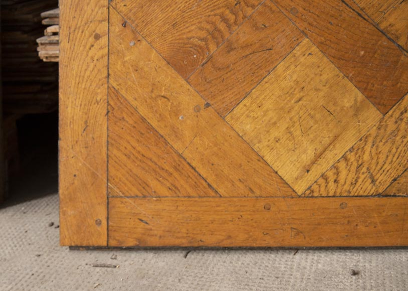Set of Versailles pegged oak parquet flooring from the 20th century-5