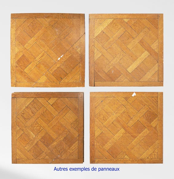 Set of Versailles pegged oak parquet flooring from the 20th century-6