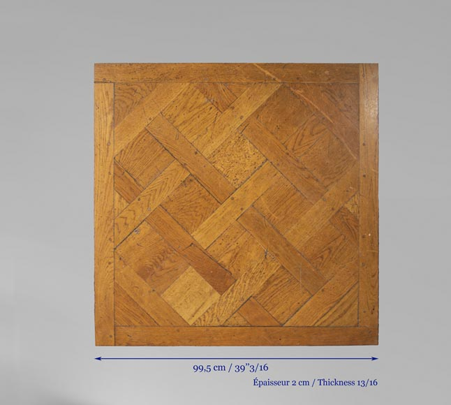 Set of Versailles pegged oak parquet flooring from the 20th century-8