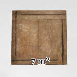 Lot of 7 m2 of square oak parquet panels