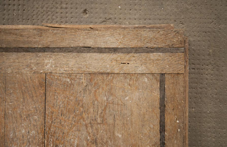 Set of oak parquet panels, square in shape-2