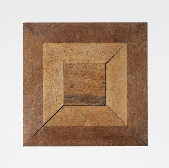 Set of parquet panels of different wood species, from the 20th century-0