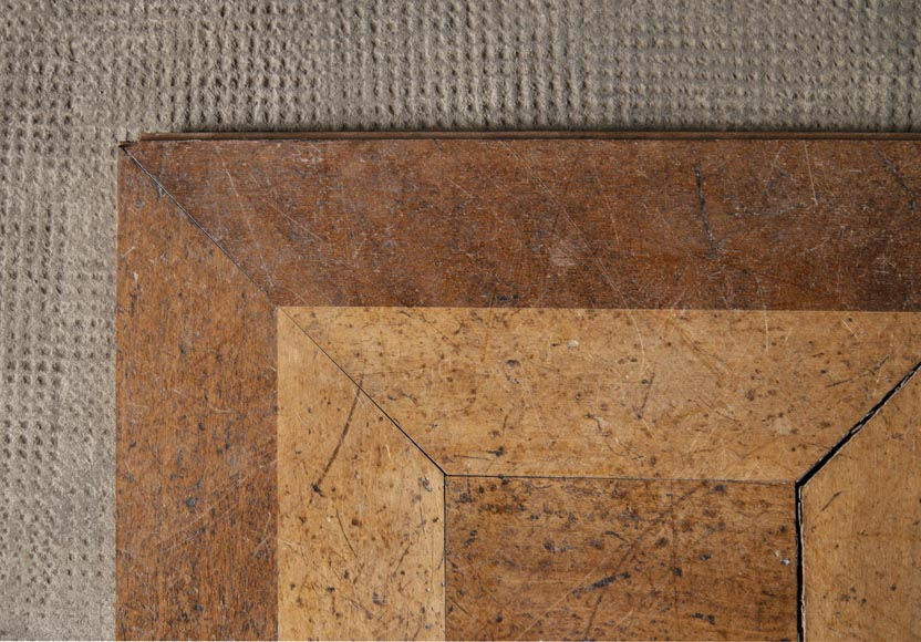 Set of parquet panels of different wood species, from the 20th century-2