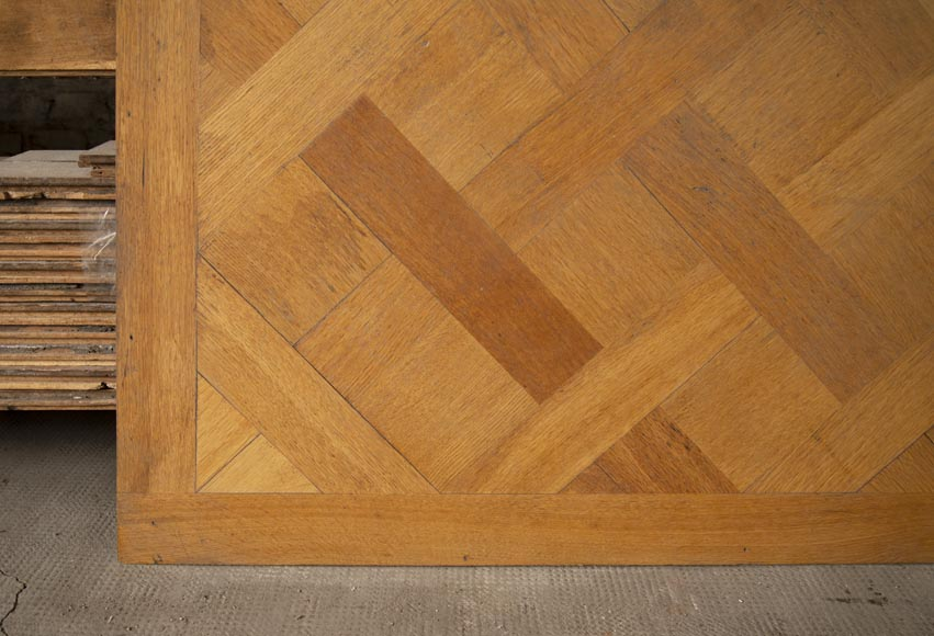Set of 20th century Versailles oak parquet flooring-3