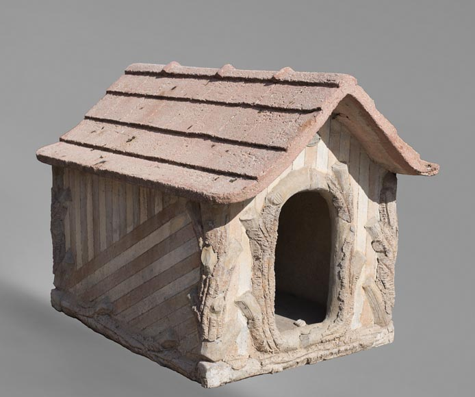 Beautiful cement doghouse in Rocaille style-0