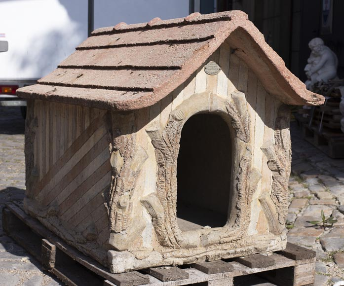 Beautiful cement doghouse in Rocaille style-2
