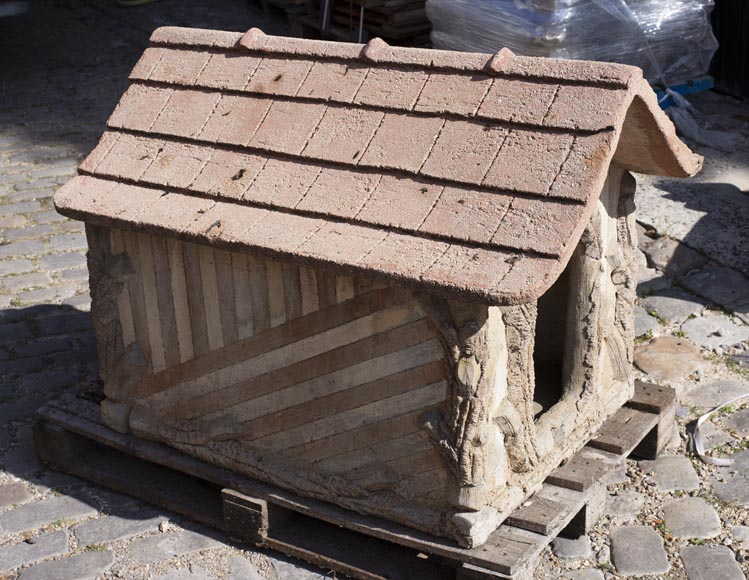 Beautiful cement doghouse in Rocaille style-3