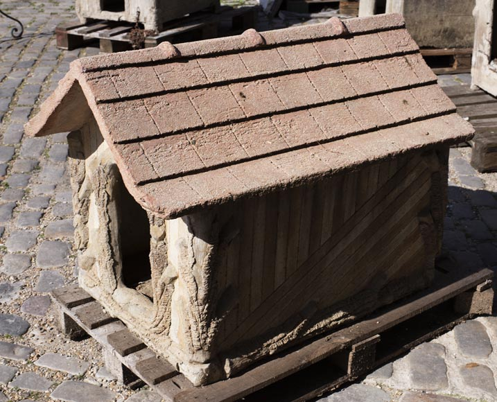 Beautiful cement doghouse in Rocaille style-4