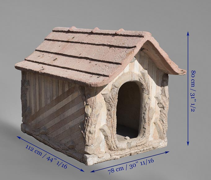 Beautiful cement doghouse in Rocaille style-10