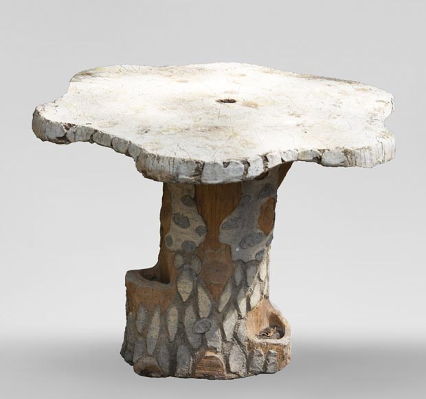 Rocaille style garden table made out of cement-0