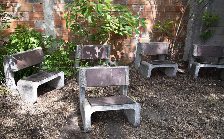 Denis MOROG (1922-2003) - Concrete garden furniture from the 1960s to 1970s-2