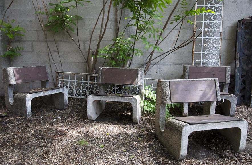 Denis MOROG (1922-2003) - Concrete garden furniture from the 1960s to 1970s-3