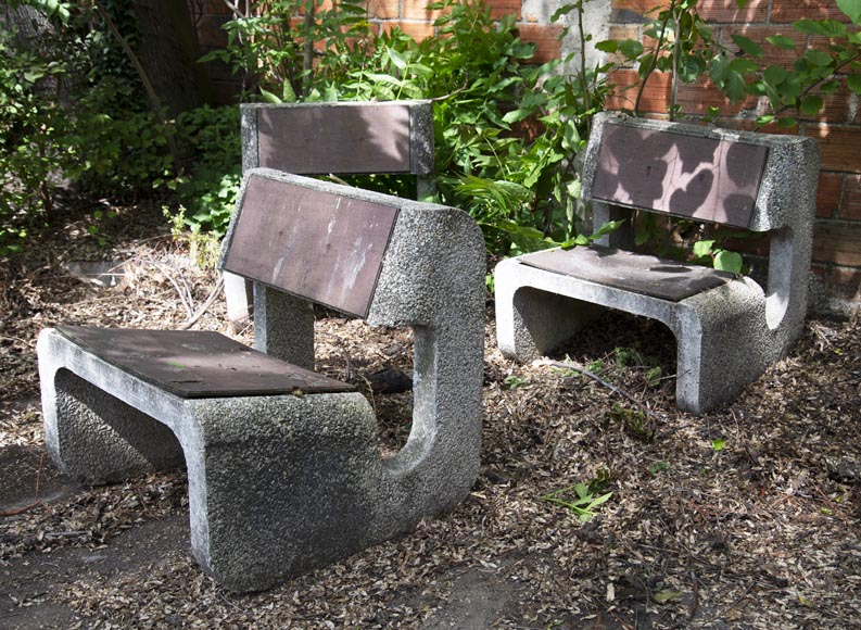 Denis MOROG (1922-2003) - Concrete garden furniture from the 1960s to 1970s-4