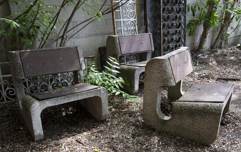 Denis MOROG (1922-2003) - Concrete garden furniture from the 1960s to 1970s-5