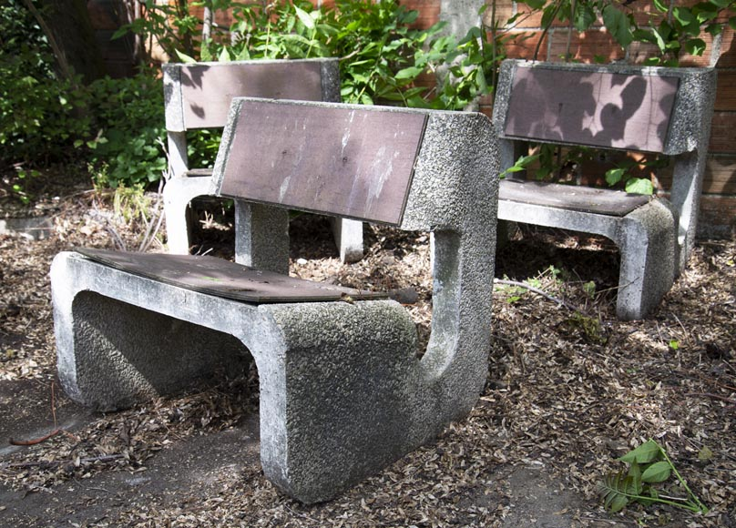 Denis MOROG (1922-2003) - Concrete garden furniture from the 1960s to 1970s-6