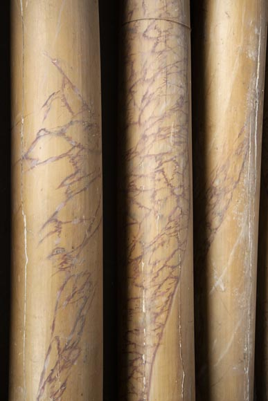 Set of wooden columns painted in imitation marble-6