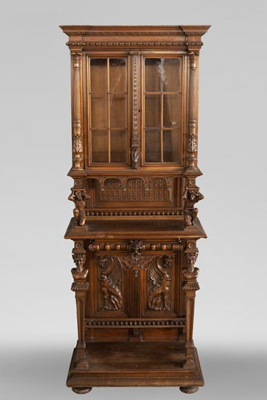 Small Neo-Renaissance style display cabinet-0