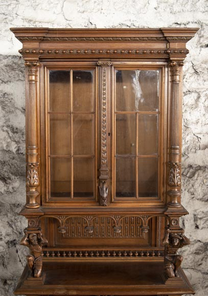 Small Neo-Renaissance style display cabinet-2